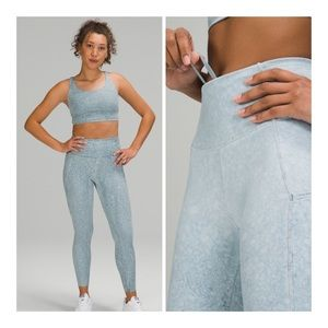 """Lululemon Fast and Free 25"""" Cloudy Light Blue 4"""